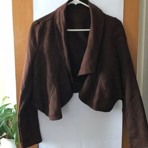 Sweaters - Cropped Buttonless Cardigan